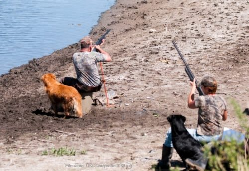 Honoring the working dog at a Finished hunt test